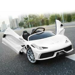 12V Kids Ride On Car Electric Toys Childs Birthday Gift White w Remote Control $155.99