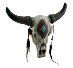 Zeckos Beads amp; Feathers Southwest Style Decorated Steer Skull Wall Hanging $38.67