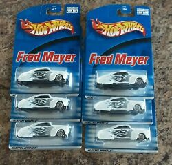 Hot Wheels White Fred Meyer Tail Dragger Lot of 6 Issued 2000 Lot 1 $8.50