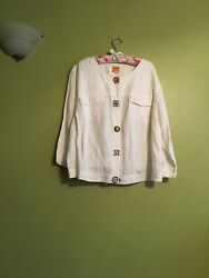 Ladies Ruby Red Plus Size 24 W White Spring Summer Light Casual Jacket $5.51