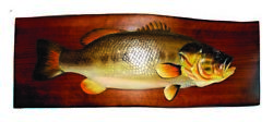 Zeckos Bass Hand Crafted Intarsia Wood Art Wall Hanging 24 X 11 X 2.5 Inches $98.00