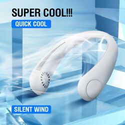 USB Portable Hanging Neck Fan Cooling Air Cooler Little Electric Air Conditioner $16.99