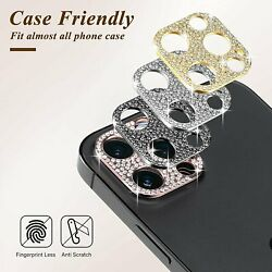 For iPhone 11 12 Pro Max Bling Diamond Camera Lens Protector Glitter Case Cover $3.79