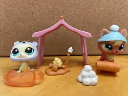 Littlest Pet Shop: Retired Snow Set Seal and Fox #1030 and #1028 $24.99