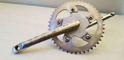 GT power series cr mo 180 MM one piece old school BMX crank w chainring amp; disc $35.00