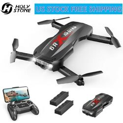 Holy Stone HS160 Pro1080p HD Foldable RC Drone WiFi Camera Quadcopter 2 Battery $54.00