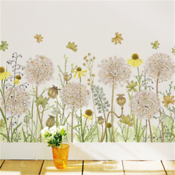 Colorful Dandelion Wall Stickers Flowers Wall Decals Home Decoration Removable $12.70