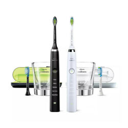 Philips Sonicare DiamondClean Rechargeable Toothbrush 2 pack 1 Black 1 White