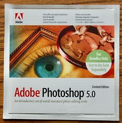 Adobe Photoshop 5.0 Limited Edition CD with Product Key $19.99