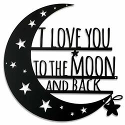 Ripeng I Love You to The Moon and Back Wall Art Moon Metal Wall Decorations H... $17.29