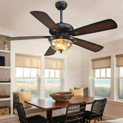 5 Blades Reversible 3 Speed Ceiling Fan With LED Light Chandelier and Remote $164.55