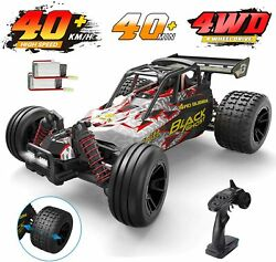 DEERC 9305E RC Cars High Speed 1:18 25 MPH 4WD Off Road Monster Truck 2 Battery $63.90