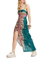Free People Morning Song Button Up Printed Lace Colorful Maxi Dress XS $45.05