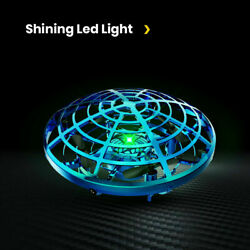 Mini Drone Quad Induction Levitation Hand Operated Helicopter Toy UFO Blue red $10.99