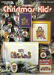 Leisure Arts Charted christmas kids to cross stitch leaflet 175 $2.99