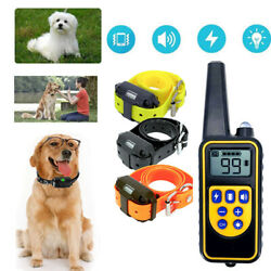 Waterproof Dog Training Electric Collar Rechargeable Remote Control For 3 Dogs $46.99