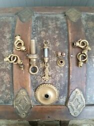 20#x27;S ERA BRASS CHANDELIER PARTS LOT INCLUDES LOOP RINGS FINIALS BALL CAPS MORE $49.00