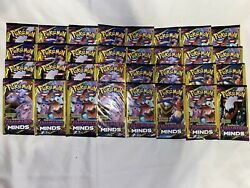 Pokemon TCG LOT OF 32 DOLLAR TREE UNIFIED MINDS Boosters 3 Card Packs $41.00