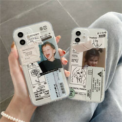 Transparent Cute Boy Girl Label Phone Case For Cover iPhone 11 12 Pro Max Mini $9.19
