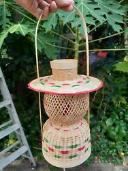 Bamboo Handmade Lamp with LED 14quot; $35.90