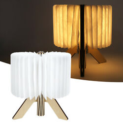 Wooden Paper LED Folding Book Lamp USB Rechargeable Night Light For Reading $28.22