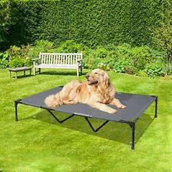 Elevated Dog Bed Extra Large Dog Cot with Sturdy amp; X Large Dark Grey $54.15