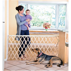 Evenflo Expansion Swing Extra Wide Hardware Mount Gate 24quot; 60quot; Pattern:Natural $50.99