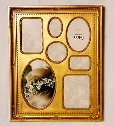 Fetco Home Decor Bronze Collage Picture Frame Holds 7 Multiple Size Photos $39.99