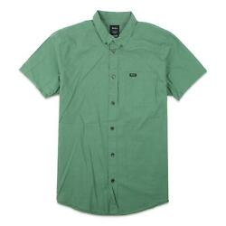 RVCA Mens That#x27;ll Do Micro Button Up S S Shirt Green Ivy M New $34.99