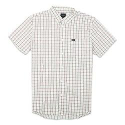 RVCA Mens That#x27;ll Do Plaid 2 Button Up S S Shirt Mirage M New $34.99