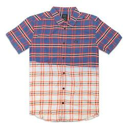 RVCA Mens That#x27;ll Do Button Up S S Shirt Multi M New $34.99