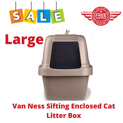 Van Ness Sifting Enclosed Cat Litter Box Large Odor Stain Resistant BPA Free $28.95