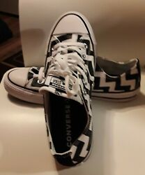 Converse All Star Women#x27;s Athletic Shoe Size 8 Color Black and White $35.95