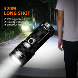 36W Zoomable LED Tactical Flashlight rechargeable super bright Torch Light GT60 $43.65