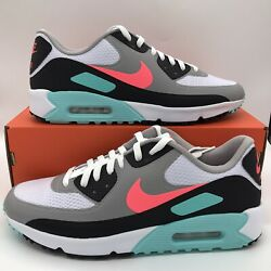 Nike AIr Max 90 G Mens Sizes South Beach Spikeless Golf Shoes White Pink Black $169.97
