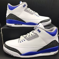 Nike Air Jordan 3 Retro Racer Blue White Cement Grey CT8532 145 Mens and GS Size $179.97