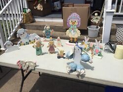 Easter Wooden Decorations $12.00