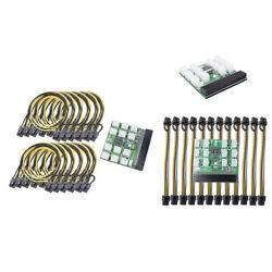 12 PCI E Connector Power Supply Breakout Board w Button for HP Ethereum GPU $28.16