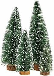 Mini Christmas Tree Small Pine Tree with WoodenBases for Xmas Holiday PartyHome $25.37