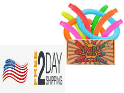 Pop Tubes Sensory Fidget Toy For Kids Helps Reduce Stress for Autism 6 Pack $18.99