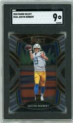 2020 Panini Select Justin Herbert SGC 9 CLUB LEVEL Rookie RC Chargers #244 $40.00