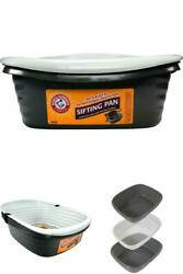 Light Gray Sifting Cat Litter Box Large Durable Built in Antimicrobial Protect $25.24
