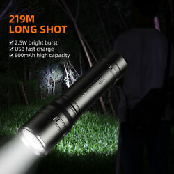 USB rechargeable super bright LED flashlight 18650 Battery waterproof Torch S33 $9.41