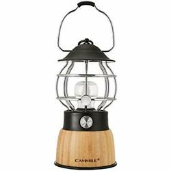 CAMMILE LED Camping Lantern Battery Powered Lights Rechargeable Lanterns Vinta $44.99