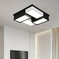 Acrylic Modern LED Chandelier Light Square Ceiling Lamp DimmableRemote Control $89.40