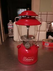 vintage coleman lantern 200a red dated 2 1976 $135.00