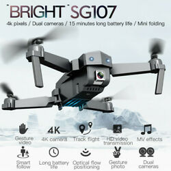 2020 SG107 4K Drone Camera Optical Flow Positioning Foldable Quadcopter WiFi FPV $74.63