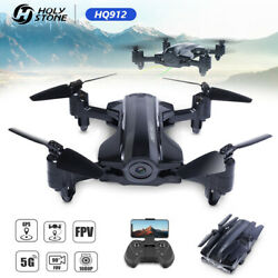 Holy Stone HQ912 FPV GPS RC Drones with 1080P Camera Follow Me 5G Wifi Foldable $89.00