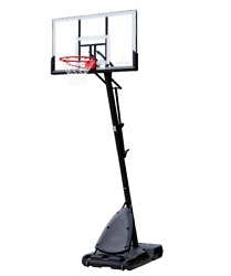 Portable Basketball Hoop Spalding 54#x27;#x27; Shatter proof Polycarbonate Exact Height $219.99