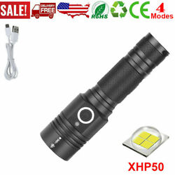 High Power 90000LM LED Flashlight On or off clickComplete with strap PH $18.04